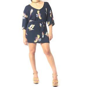 Anthropologie Deletta Kimono Bird Tunic/Dress